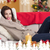 composite image of smiling brunette relaxing on the couch at chr stock photo © wavebreak_media