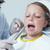 homem · dentista · homem · maduro · clínica · mão · espelho - foto stock © wavebreak_media