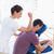 Mann · zurück · Massage · gut · aussehend · junger · Mann · Magen - stock foto © wavebreak_media