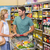 smiling bright couple buying food products stock photo © wavebreak_media