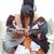 csoport · üzletemberek · portré · együtt · dolgozni · megbeszélés · üzlet - stock fotó © wavebreak_media