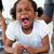 mérges · kislány · kiált · konyha · gyermek · otthon - stock fotó © wavebreak_media