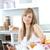 zawartość · kobieta · laptop · śniadanie · młodych · wspaniały - zdjęcia stock © wavebreak_media