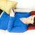 csinos · barna · hajú · küldés · szöveg · kanapé · otthon - stock fotó © wavebreak_media