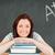 közelkép · fiatal · nő · osztályterem · iskola · háttér · oktatás - stock fotó © wavebreak_media