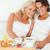 gelukkig · ontbijt · business · paar · telefoon - stockfoto © wavebreak_media