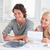 Confident couple accounting in their living room stock photo © wavebreak_media