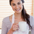 portret · vrouw · beker · koffie · keuken - stockfoto © wavebreak_media