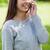junge · Mädchen · stehen · sprechen · Telefon · lachen · Gras - stock foto © wavebreak_media