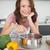 portrait · femme · souriante · cuisine · souriant · jeune · femme - photo stock © wavebreak_media
