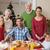 festività · ritratto · famiglia · felice · seduta · tavola - foto d'archivio © wavebreak_media