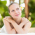 paisible · serviette · femme · fleur - photo stock © wavebreak_media