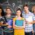 composite image of students holding folders in college stock photo © wavebreak_media