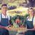 smiling farmer couple holding a vegetable basket stock photo © wavebreak_media