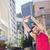 ハンサム · 選手 · 腕 · ストレッチング · 市 - ストックフォト © wavebreak_media