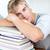 stanco · dormire · biblioteca · studiare · lungo · tempo - foto d'archivio © wavebreak_media