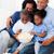 família · feliz · alimentação · pipoca · sessão · sofá · casa - foto stock © wavebreak_media