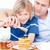 imádnivaló · fiú · apa · méz · család · kávé - stock fotó © wavebreak_media