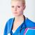 fiatal · női · orvos · tart · mappa · vonzó · nő - stock fotó © wavebreak_media