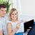 fiatal · pér · laptop · hitelkártya · online · nappali · nő - stock fotó © wavebreak_media