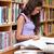 ernst · Studenten · Lesung · Buch · Bibliothek · Frau - stock foto © wavebreak_media