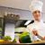 Female chef cutting vegetables in kitchen stock photo © wavebreak_media