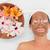 mosolyog · barna · hajú · sár · kezelés · vmi · mellett · tál - stock fotó © wavebreak_media