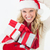 santa woman scratching head and holding gifts stock photo © wavebreak_media