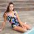 mooie · brunette · vergadering · lichaam · huid - stockfoto © wavebreak_media