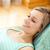 nő · megnyugtató · kanapé · küldés · szöveges · üzenet · nők - stock fotó © wavebreak_media