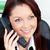 positief · jonge · zakenvrouw · praten · telefoon · vergadering - stockfoto © wavebreak_media