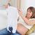 anyuka · gyönyörű · terhes · nő · tart · kicsi · babacipők - stock fotó © wavebreak_media