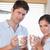 çift · içme · kahve · mutfak · kadın · adam - stok fotoğraf © wavebreak_media