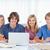 lächelnd · Gruppe · Studenten · Laptop · aussehen · vor - stock foto © wavebreak_media
