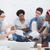 young creative team brainstorming together stock photo © wavebreak_media