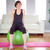 fit woman sitting on exercise ball stock photo © wavebreak_media