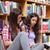 dwa · studentów · pracy · uczelni · biblioteki · kobiet - zdjęcia stock © wavebreak_media