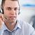 Close up call center agent listening to costumer carefully stock photo © wavebreak_media