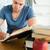 mannelijke · student · papier · school · appel - stockfoto © wavebreak_media
