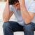 hayal · kırıklığına · uğramış · genç · oturma · kanepe · stres · üzüntü - stok fotoğraf © wavebreak_media