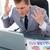 бизнесмен · не · рабочих · ноутбука · бизнеса - Сток-фото © wavebreak_media