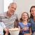 семьи · смотрят · фильма · гостиной · продовольствие · любви - Сток-фото © wavebreak_media