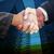 composite image of handshake between two business people stock photo © wavebreak_media
