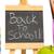 Zurück · in · die · Schule · geschrieben · Tafel · Nachricht · Holz · Pfund - stock foto © wavebreak_media