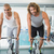 fit men working on exercise bikes at gym stock photo © wavebreak_media