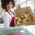 pretty waitress carrying basket of bread stock photo © wavebreak_media