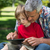 happy father using tablet pc with his son stock photo © wavebreak_media