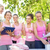 voluntarios · cáncer · de · mama · campaña · grupo · femenino · parque - foto stock © wavebreak_media