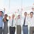 equipo · de · negocios · victoria · oficina · negocios · éxito - foto stock © wavebreak_media
