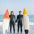 középső · rész · pár · kéz · a · kézben · tengerpart · napos · idő · nő - stock fotó © wavebreak_media